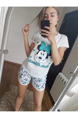 Женская пижама (9313) Микки Маус (зеленый)