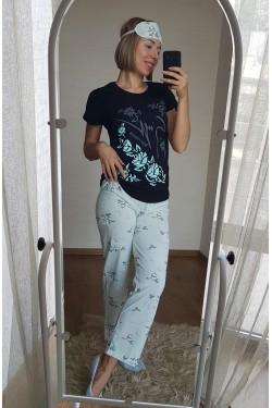 Пижама женская с маской для сна (3818)