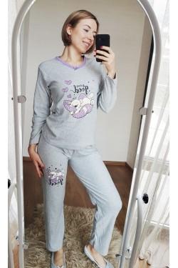 Женская кашемировая пижама (Спящий медвежонок)