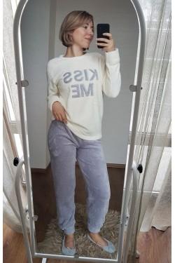 (8021) Женская теплая плюшевая пижама