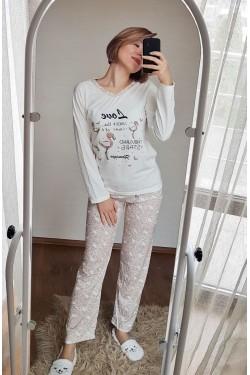 Пижама для девушек с длинными рукавами (5105)