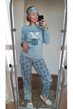 Женская пижама флисовая (4021)