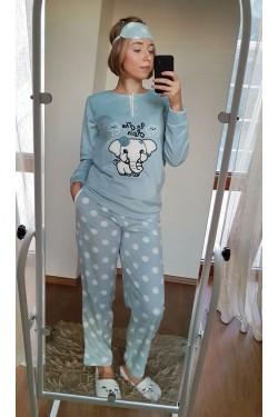 Пижама флисовая женская (4019)