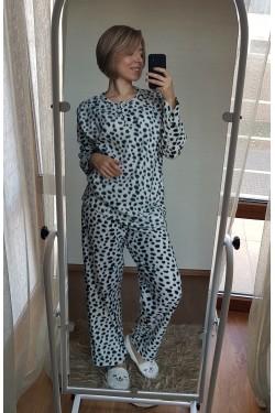 Флисовая батальная пижама (7038)