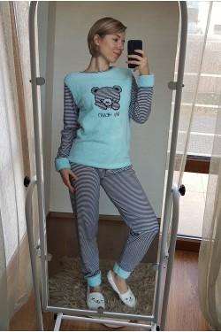 Пижама с голубыми вставками (7037)