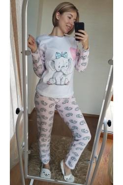 Флисовая женская пижама (7036)