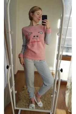 Пижама с плюшевыми вставками