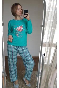 Байковая пижама со штанами (7060)