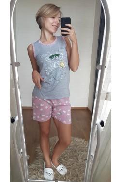Женская пижама с майкой (7075)