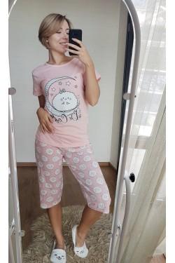 Пижама с капрями для девушек (7073)
