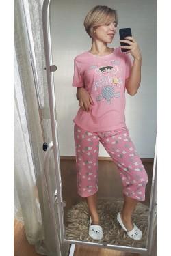Пижама женская с капрями (7087)