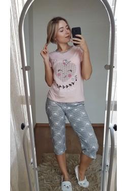 Пижама с капри (7106)