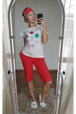 Пижама с капри (7110)