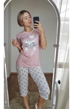 Пижама с капри (7111)