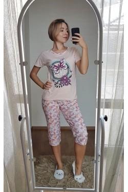 Пижама с капри (7112)