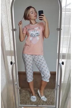 Пижама с капри (7113)