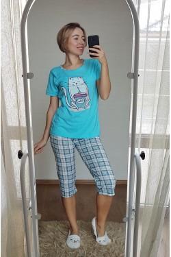 Пижама с капри (7114)