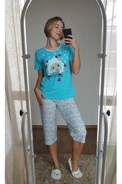 Пижама с капри (7115)