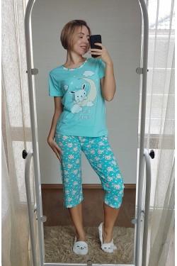 Пижама с капри (7116)
