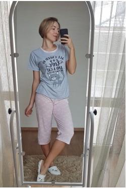 Пижама с капри (7117)