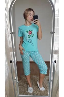 Пижама с капри (7119)