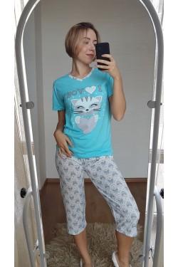 Пижама с капри (7120)