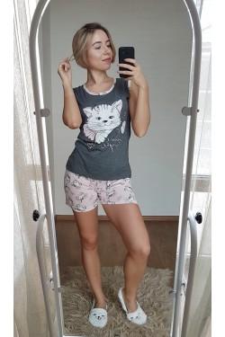 Женская пижама с шортами (7127)