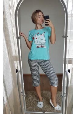 Пижама с капри (7121)