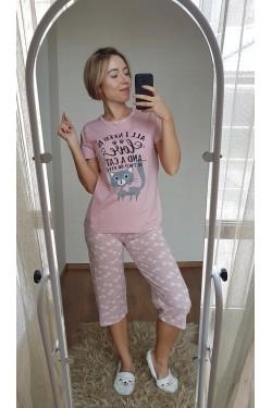 Пижама с капри (7122)