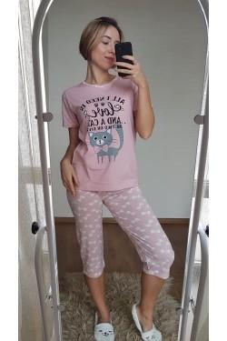 Пижама с капри (7124)