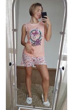 Легкая женская пижама с майкой (7136)