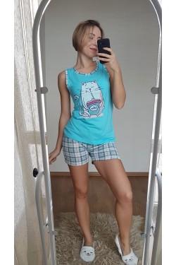 Женская пижама с шортами (7139)