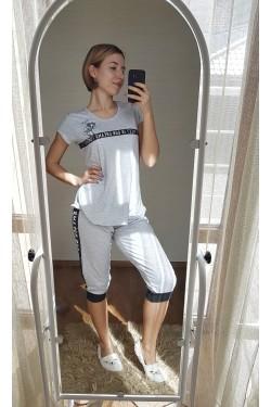 Женская пижама с футболкой (7207)