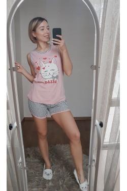 Пижама с котом Hello