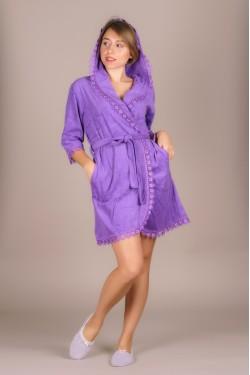 Женский халат (фиолетовый)