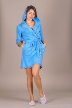 Халат женский (Синий)