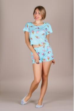 Пижама (топ+шортики)-351-8