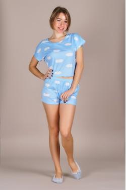 Пижама (топ+шортики)-351-5