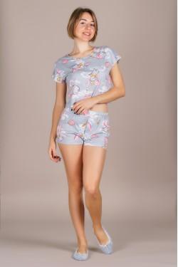 Пижама (топ+шортики)-351-1