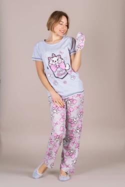 Женская пижама со штанами и футболкой (303-5)