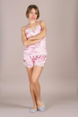 Атласная пижама (0678-2)