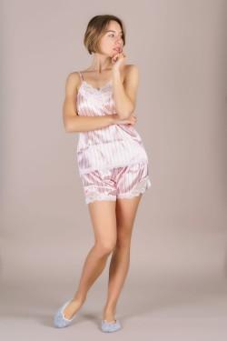Пижама женская атласная (0678-3)