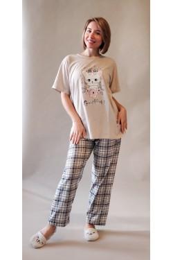 Женская батальная пижама (7065)