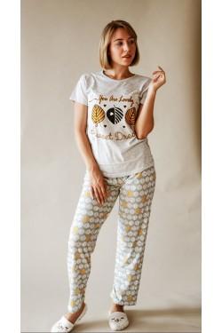 Женская пижама со штанами (7251)