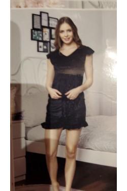 Женская пижама велюровая Black (7131-2)