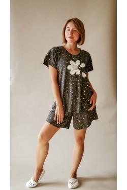Пижама с шортами батальной серии (6050)