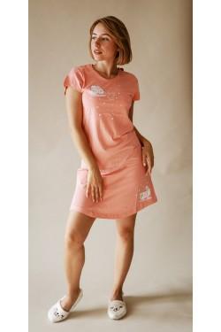 Домашнее платье (Персиковые барашки)