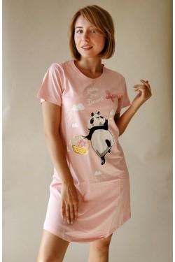Домашнее платье (Розовая панда)