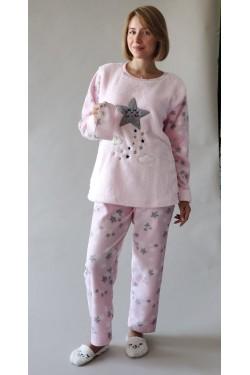 Теплая пижама батальной серии Moon (9014-2)