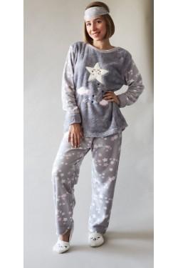 Теплая пижама батальной серии Stars (9014-1)